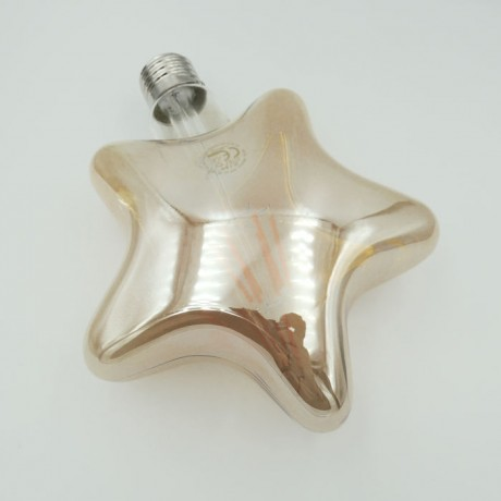 Dekoratif Yıldız Rustik Led Ampul 6W Amber E27