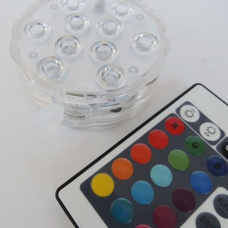 Şarjlı Uzaktan Kumandalı RGB Led Nargile Işık Su Geçirmez
