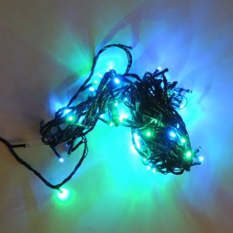 Yılbaşı Ağaç Bahçe İp Süs 100 Led Işık 10M Gün RGB Modlu Eklenir