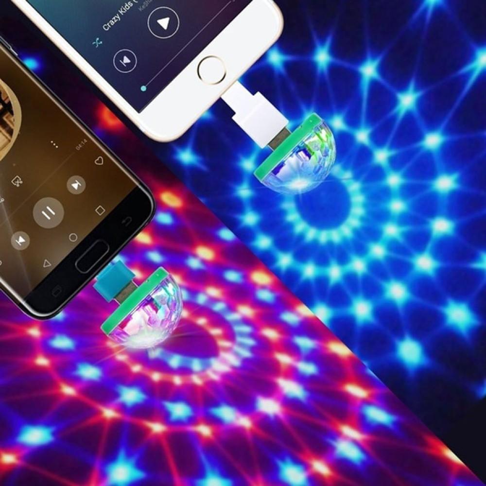 Müziğe Duyarlı Mini Disko Topu Usb Android Telefon Parti Işığı