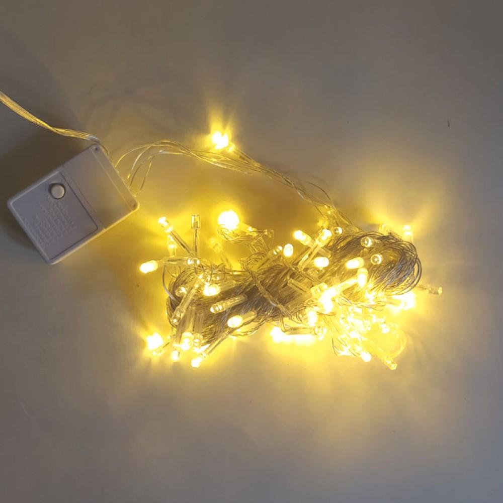 Yılbaşı Ağaç Bahçe İp Süs 100 Led Işık 10M Gün Işığı Beyaz Modlu