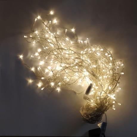 Yılbaşı Ev Bahçe Saçak Süs 325 Led Işık 6M Gün Işığı Eklenir