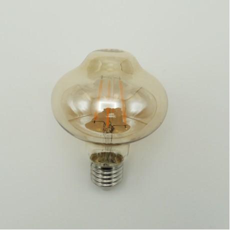 Eko Tasarruf Yuvarlak Rustik Led Ampul 4W/8W Sarı Işık 2700K E27