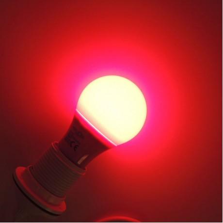 Renkli Led Ampul 5W Tasarruf Kırmızı Mavi Sarı Turuncu Yeşil E27