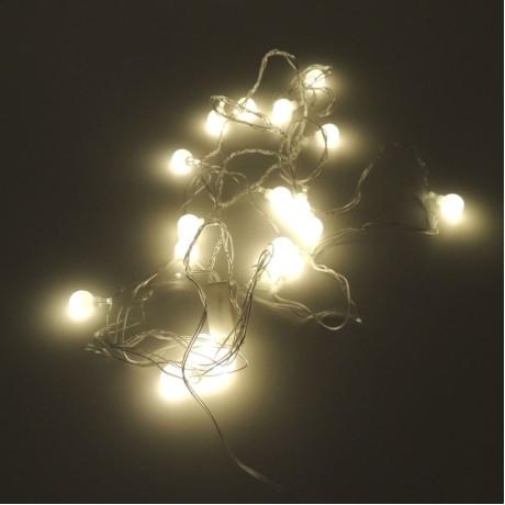 Yılbaşı Ağaç Bahçe Küçük Top Günışığı 20 Led Işık 4M Tek Modlu