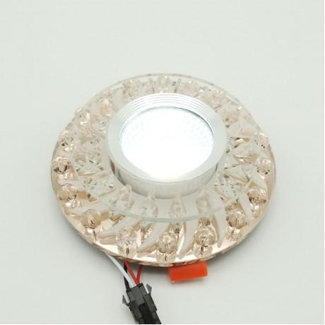 Dekoratif Kristal Sıva Altı Led Spot Armatür 5W+5W Beyaz Gün Işığı 3 Kademe