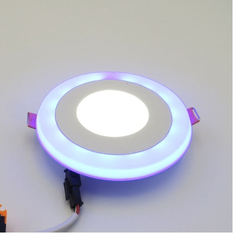 Dekoratif Çift Renk Sıva Altı Led Spot Armatür 3W+3W Beyaz Mavi 3 Kademe