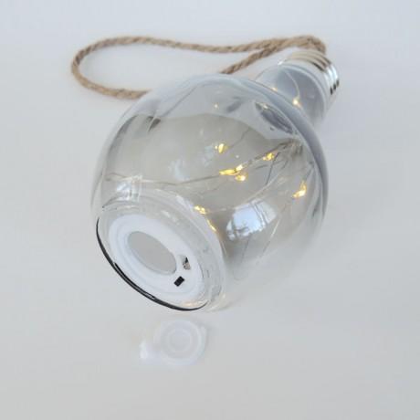 Peri Işıklı Dekoratif Pilli Ledli  Halat İpli Ampul  Günışığı