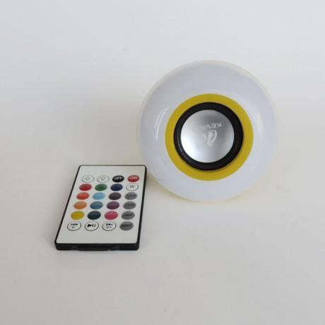 Kumandalı Bluetooth Speaker Müzik Çalar  RGB  Led Ampul