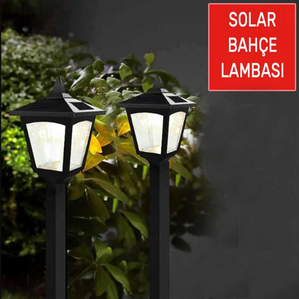 Güneş Enerjili Solar Led Bahçe Aydınlatma Dış Lambası Saplamalı
