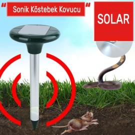 Güneş Enerjili Solar Ultrasonik Köstebek, Fare, Yılan Kovucu 800m