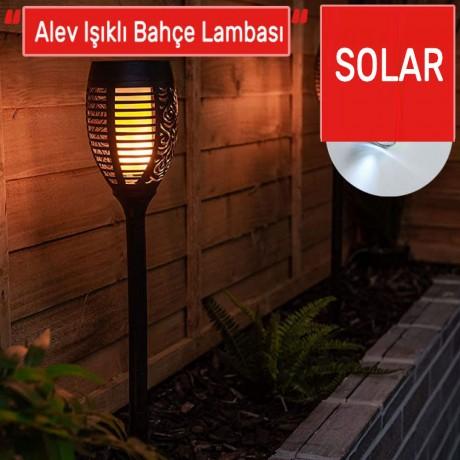 Meşale Güneş Enerjili Solar Led Bahçe Aydınlatma Lambası Saplamalı