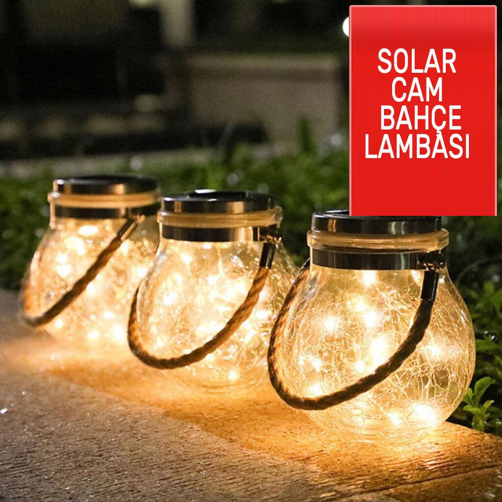 Güneş Enerjili Solar Çatlak Sarkıt Led Armatür Bahçe Lambası