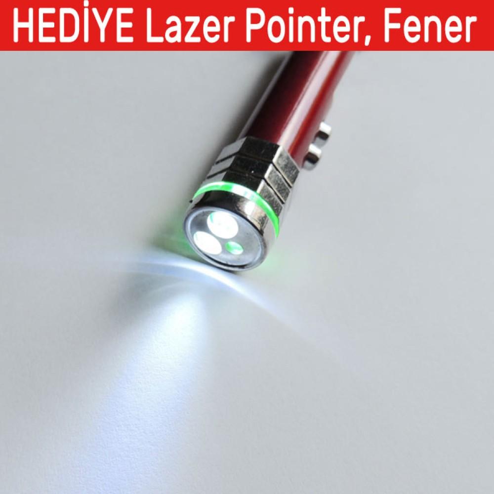 Kırmızı Lazer Pointer Kedi Oyuncağı Anahtarlık İkazlı Led Fener